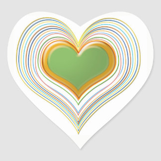 Adesivo Coração Queridos do verde esmeralda -   loja dos miúdos