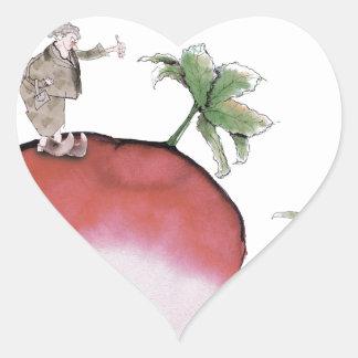 Adesivo Coração Rabanete grande de Yorkshire do amor