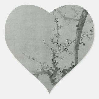 Adesivo Coração Ramo da ameixa - Yi Yuwon
