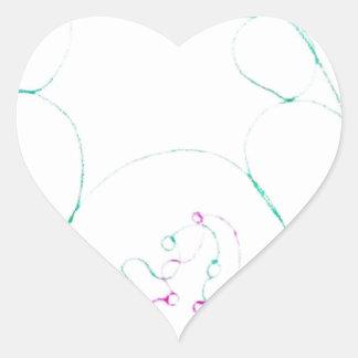 Adesivo Coração Rede de um Sengaku knotty