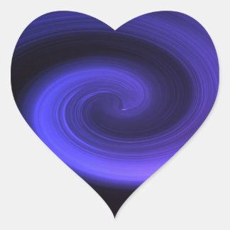 Adesivo Coração Redemoinho abstrato