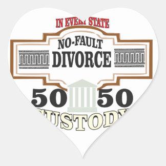 Adesivo Coração reduza a custódia 50 50 automática dos divórcios