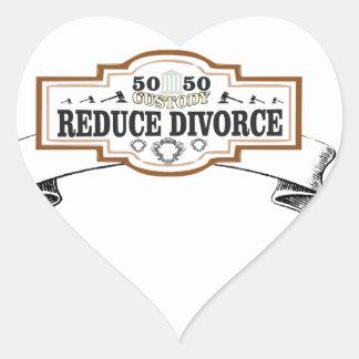 Adesivo Coração reduza a custódia 50 do divórcio 50
