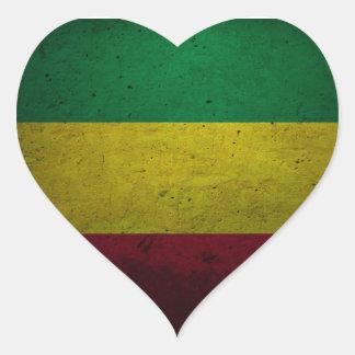 Adesivo Coração Reggae Vibrations jah Rasta bordador - One love -