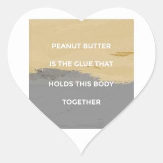 Adesivo Coração Regras da manteiga de amendoim