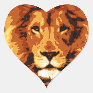 Adesivo Coração Rei da selva
