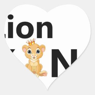 Adesivo Coração rei do leão
