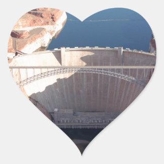 Adesivo Coração Represa da garganta do vale e ponte, arizona