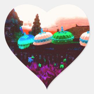 Adesivo Coração Respingo do guarda-chuva de Bali