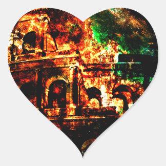 Adesivo Coração Respire outra vez sonhos dos padrões romanos perto