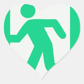 Adesivo Coração Retire o sinal
