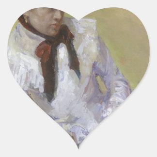 Adesivo Coração Retrato do artista - Mary Cassatt