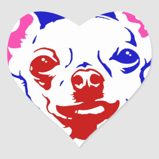 Adesivo Coração Revolução da chihuahua