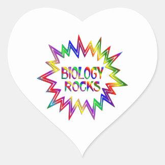 Adesivo Coração Rochas da biologia