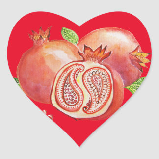 Adesivo Coração Romã Norooz feliz