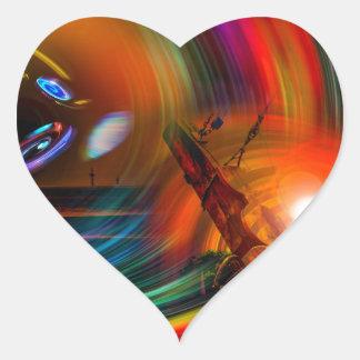 Adesivo Coração Romance of sailing - Calcular o tempo túneis