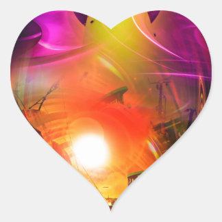 Adesivo Coração Romantismo de vela - Calcular o tempo túneis