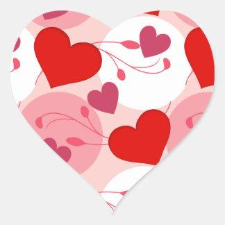 Adesivo Coração Rosa romance do dia dos namorados do amor dos