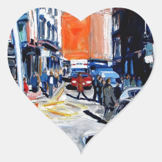 Adesivo Coração rua Dublin de Wicklow