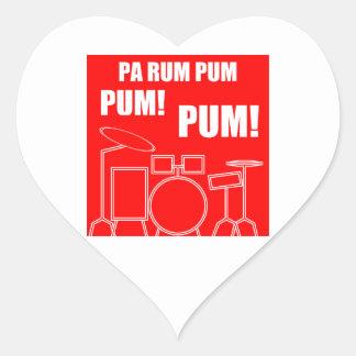 Adesivo Coração Rum Pum Pum Pum do Pa