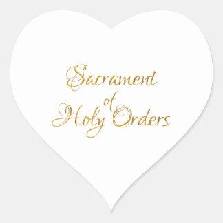 Adesivo Coração Sacramento do olhar do ouro 3D das ordens