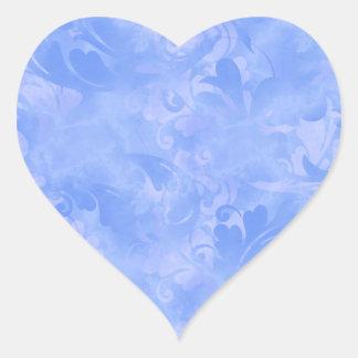 Adesivo Coração Safira subtil do Azure do inverno do Aqua azul da