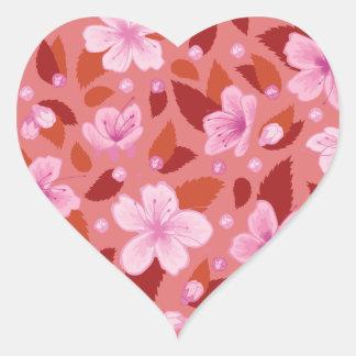 Adesivo Coração Sakura