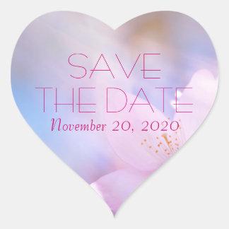 Adesivo Coração Salvar a data customizável