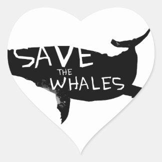 Adesivo Coração Salvar as baleias