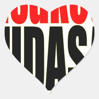 Adesivo Coração salvar por favor anime japonês que implora por