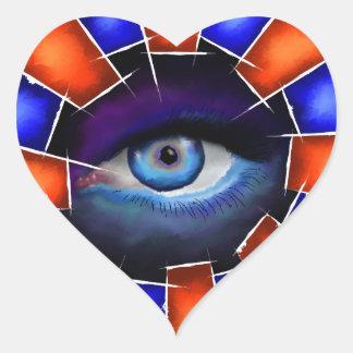 Adesivo Coração Salvenitus - olho de observação
