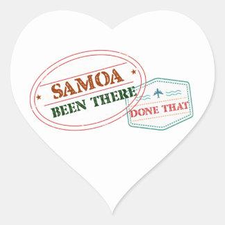 Adesivo Coração Samoa feito lá isso
