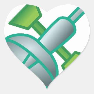 Adesivo Coração Satélite