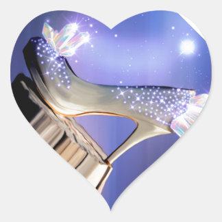 Adesivo Coração Se os ajustados dos calçados