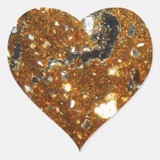 Adesivo Coração Seção fina de um tijolo sob o microscópio