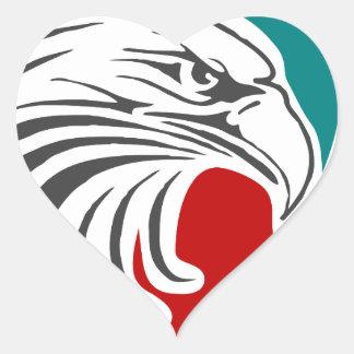 Adesivo Coração Segurança e proteção da águia americana