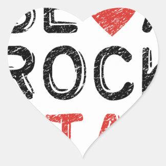 Adesivo Coração Seja uma estrela do rock