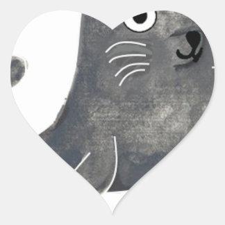 Adesivo Coração Selo de aprovação