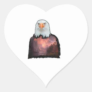 Adesivo Coração Selo do bravo