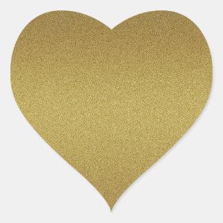 Adesivo Coração Selos vazios elegantes do brilho do ouro