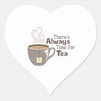 Adesivo Coração Sempre tempo do chá