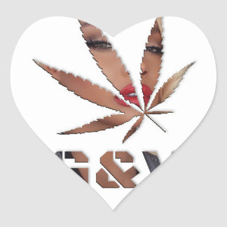 Adesivo Coração Senhora & a folha, pelo #GrindAndVape