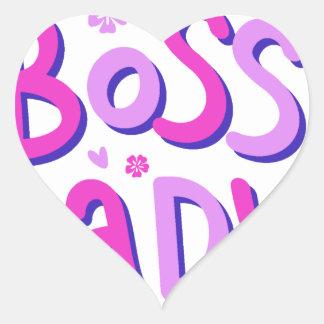 Adesivo Coração Senhora do chefe