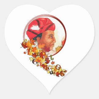 """Adesivo Coração Sequoyah & o Syllabary Cherokee """"que fala saem """""""