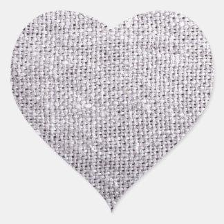 Adesivo Coração Serapilheira cinzenta do fundo do tecido