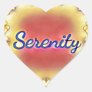 Adesivo Coração Serenidade quadro inspirada do amarelo vibrante do