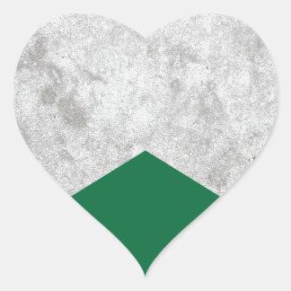 Adesivo Coração Seta concreta Forest Green #326