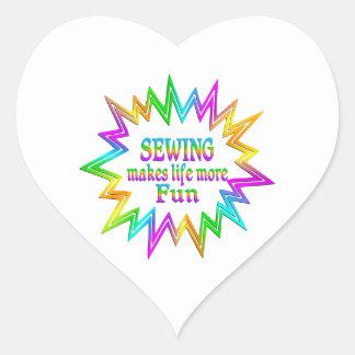 Adesivo Coração Sewing mais divertimento