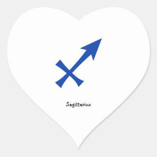 Adesivo Coração Símbolo do Sagitário