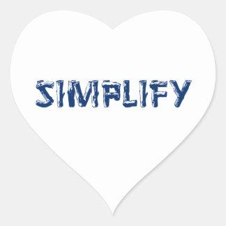 Adesivo Coração Simplifique